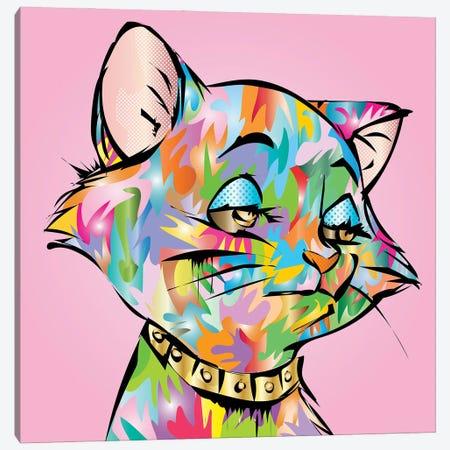 Sleepy Cat Canvas Print #TDR476} by TECHNODROME1 Canvas Art
