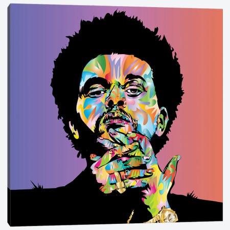 Weeknd Canvas Print #TDR477} by TECHNODROME1 Canvas Wall Art