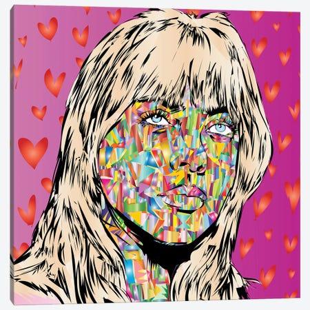 Billie Canvas Print #TDR483} by TECHNODROME1 Canvas Art