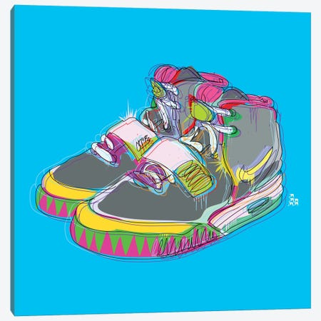 Nike Air Yeezy 2's Canvas Print #TDR48} by TECHNODROME1 Canvas Art