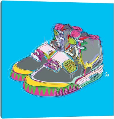Nike Air Yeezy 2's Canvas Print #TDR48
