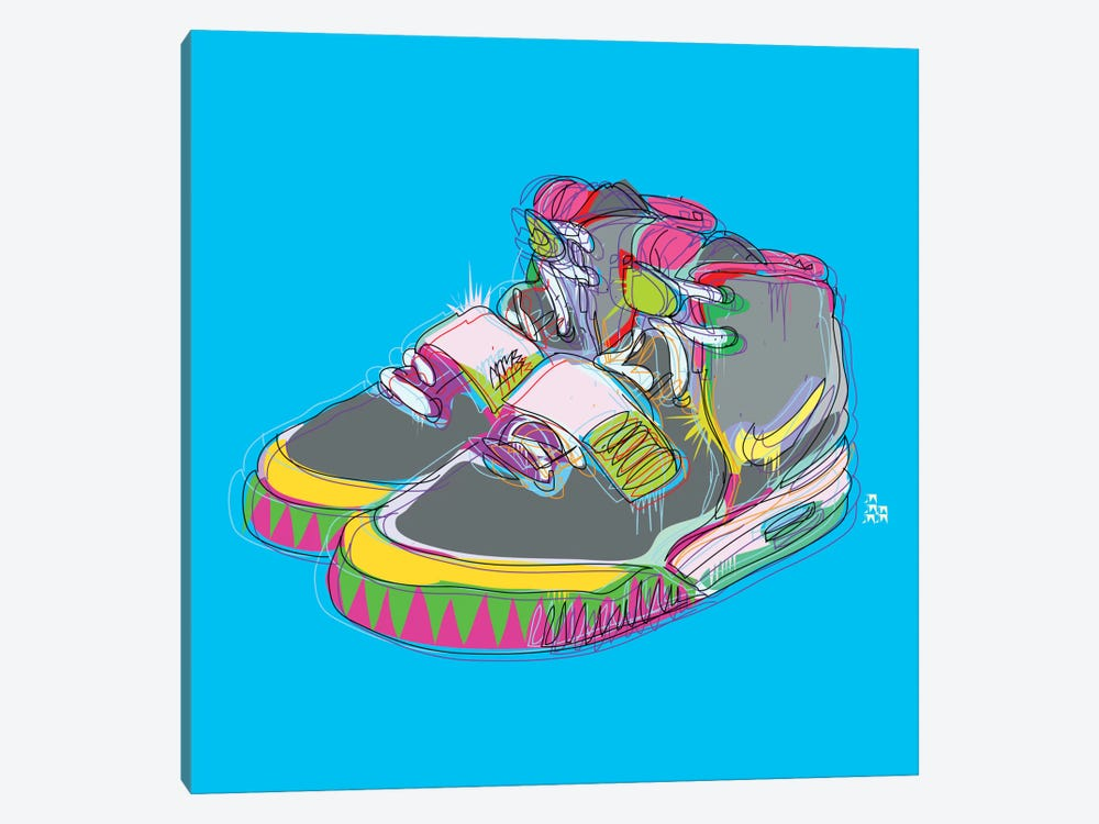 Nike Air Yeezy 2's 1-piece Canvas Wall Art
