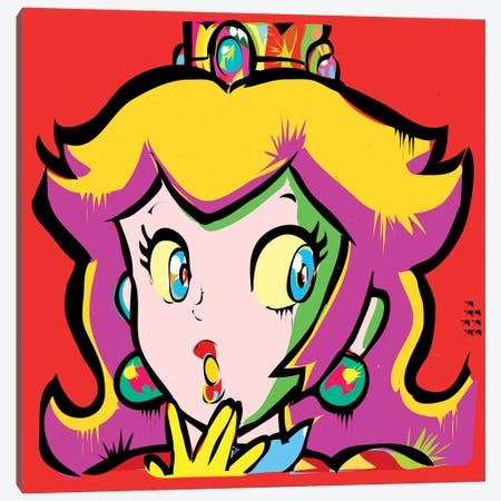 Princess Toadstool Canvas Print #TDR52} by TECHNODROME1 Canvas Print