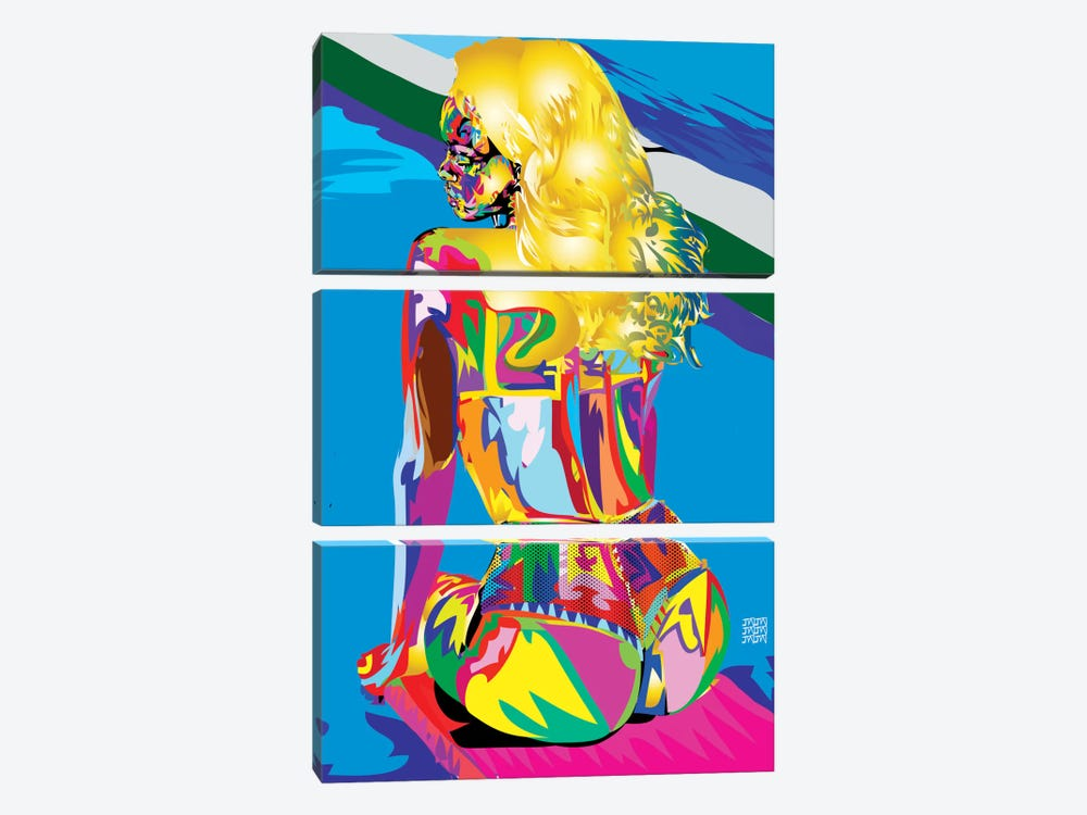 Rihanna's Azz by TECHNODROME1 3-piece Art Print