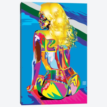 Rihanna's Azz Canvas Print #TDR54} by TECHNODROME1 Canvas Art