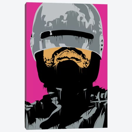 RoboCop I Canvas Print #TDR56} by TECHNODROME1 Canvas Artwork