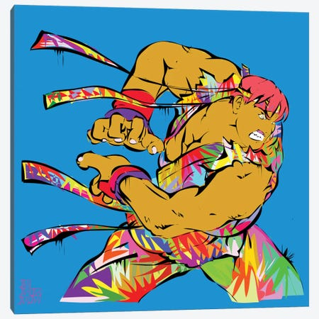 Ryu 3-Piece Canvas #TDR58} by TECHNODROME1 Canvas Print
