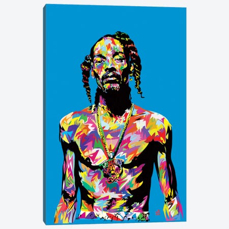 Snoop Canvas Print #TDR60} by TECHNODROME1 Canvas Wall Art