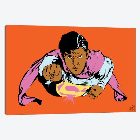 Superman Canvas Print #TDR65} by TECHNODROME1 Canvas Print