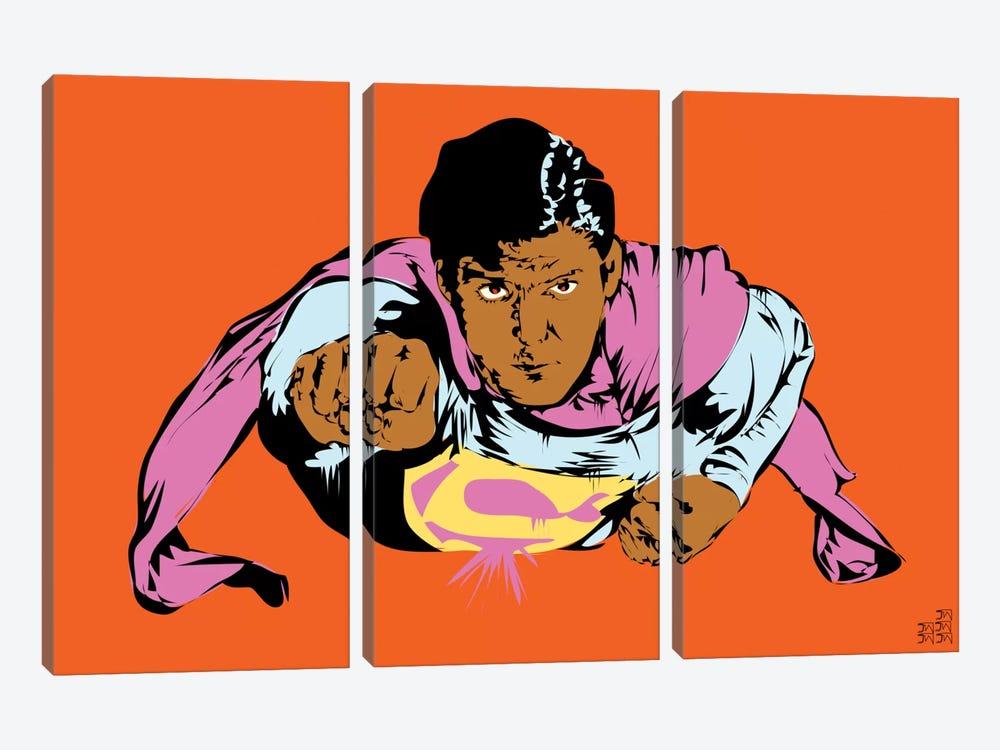 Superman by TECHNODROME1 3-piece Canvas Art Print