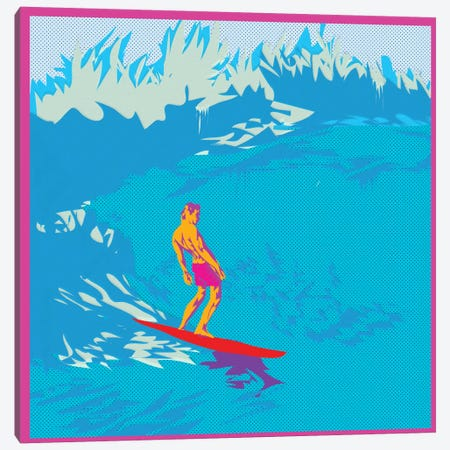 Surfing Canvas Print #TDR66} by TECHNODROME1 Canvas Print