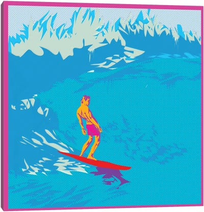 Surfing Canvas Art Print
