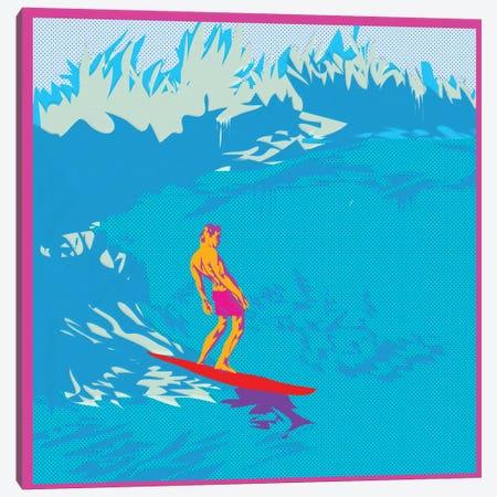 Surfing Canvas Print #TDR66} by TECHNODROME1 Canvas Print