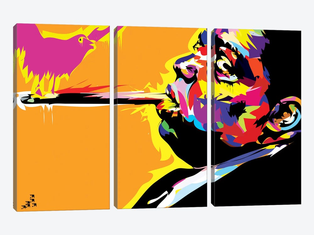 The Notorious B.I.G. by TECHNODROME1 3-piece Canvas Art