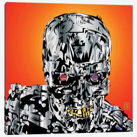 The Terminator Canvas Print #TDR69} by TECHNODROME1 Canvas Art