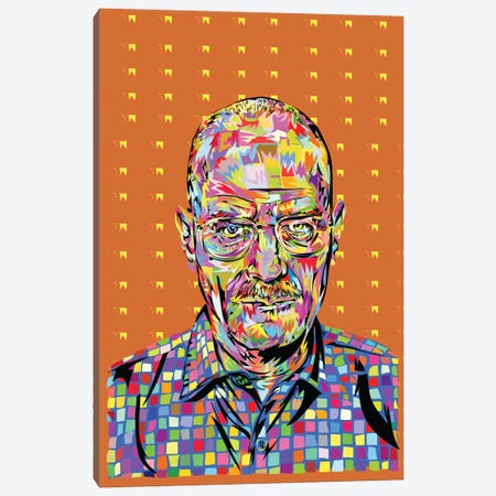 Walter White Canvas Print #TDR73} by TECHNODROME1 Canvas Print