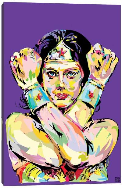 Wonder Woman Bracelets Canvas Art Print