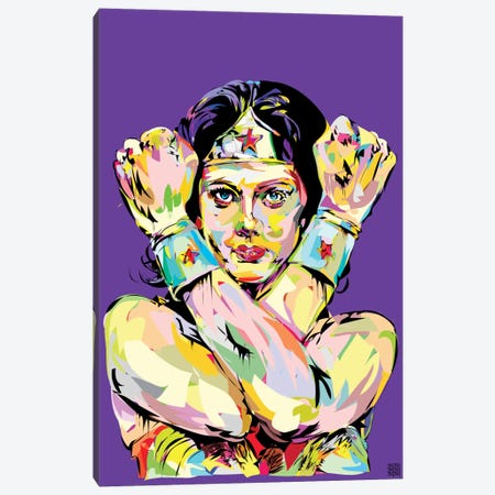 Wonder Woman Bracelets Canvas Print #TDR74} by TECHNODROME1 Canvas Artwork