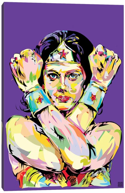 Wonder Woman Bracelets Canvas Print #TDR74