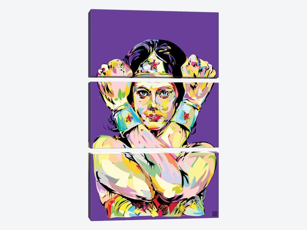 Wonder Woman Bracelets by TECHNODROME1 3-piece Canvas Art Print