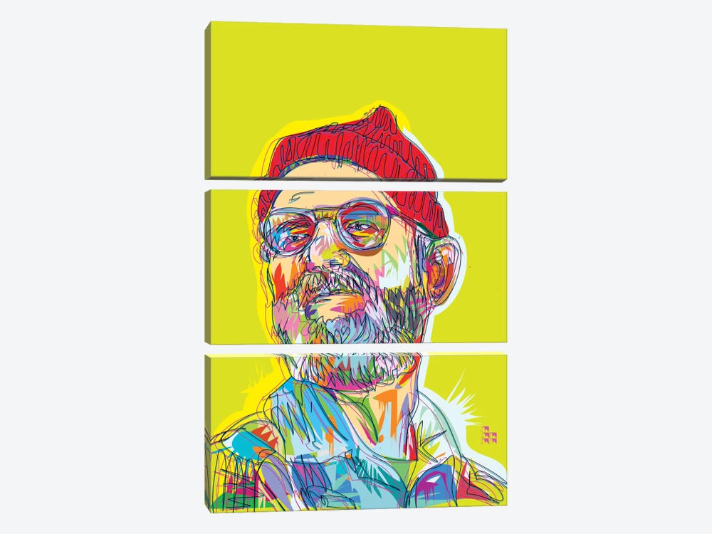 Zissou by TECHNODROME1 3-piece Canvas Print