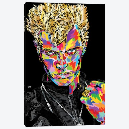 Billy Idol Canvas Print #TDR79} by TECHNODROME1 Art Print
