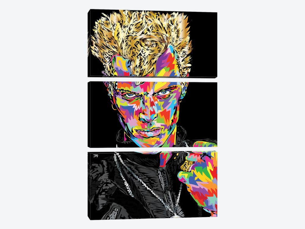 Billy Idol by TECHNODROME1 3-piece Canvas Wall Art