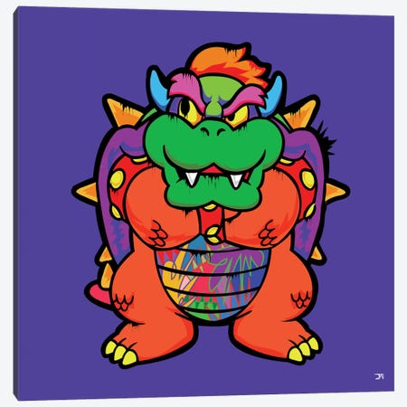 Bowser Canvas Print #TDR80} by TECHNODROME1 Canvas Wall Art