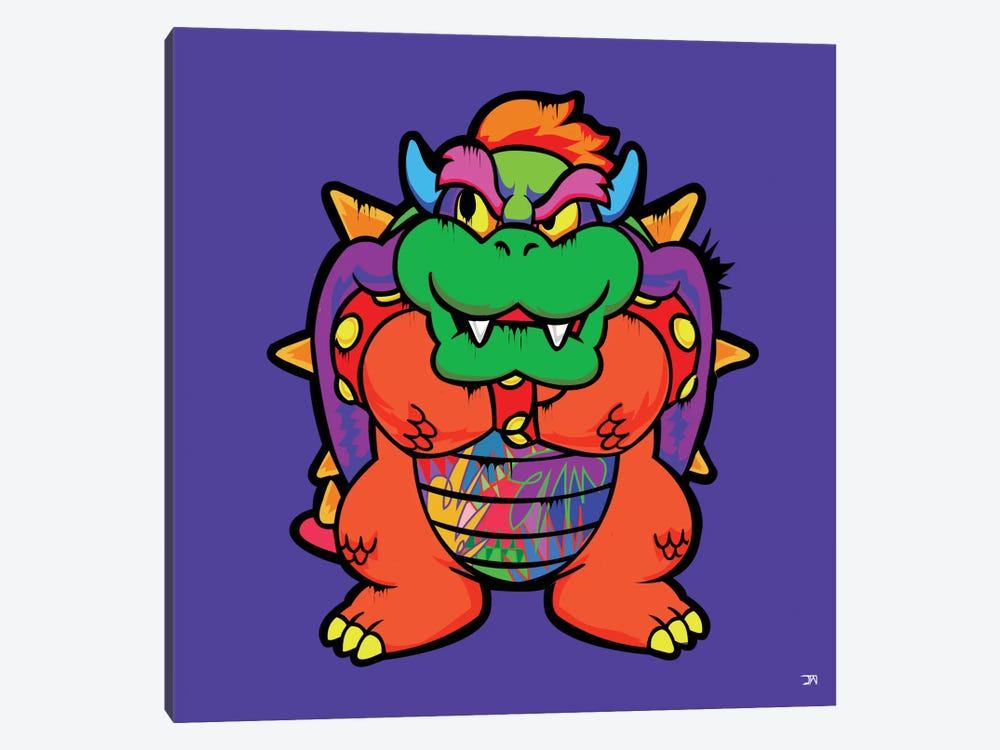 Bowser by TECHNODROME1 1-piece Canvas Artwork