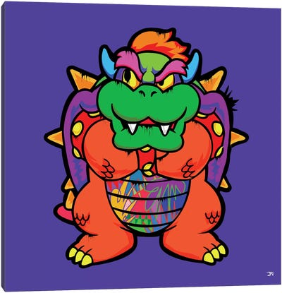 Bowser Canvas Art Print