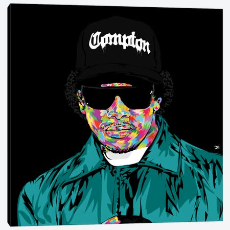 Eazy E Canvas Print #TDR81} by TECHNODROME1 Canvas Wall Art