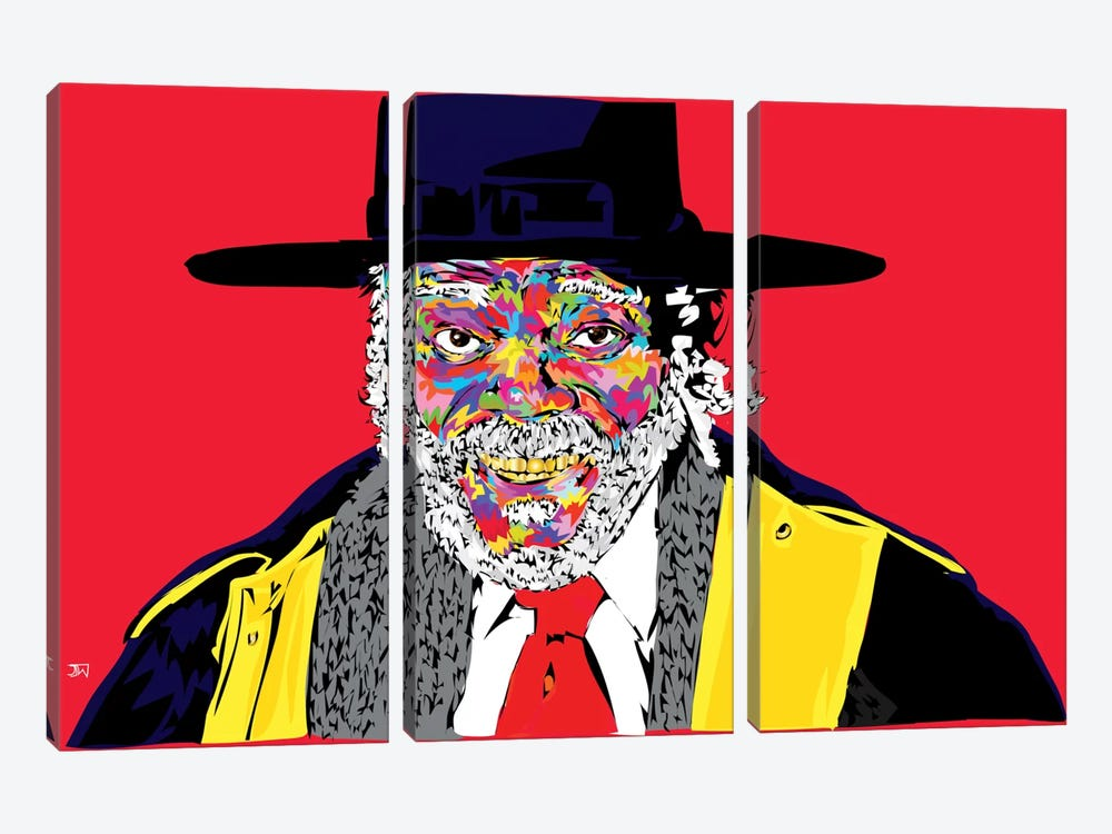 Sam L. In Hateful 8 by TECHNODROME1 3-piece Canvas Art Print