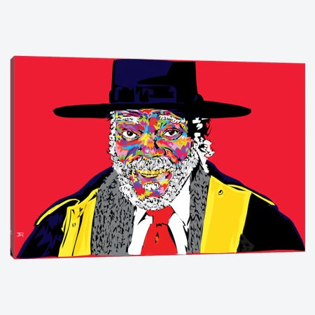 Sam L. In Hateful 8  Canvas Print #TDR83} by TECHNODROME1 Canvas Artwork