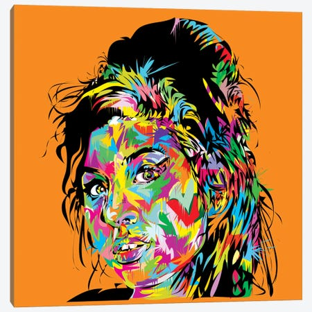 Amy Winehouse Canvas Print #TDR87} by TECHNODROME1 Canvas Print