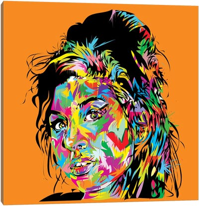 Amy Winehouse Canvas Print #TDR87