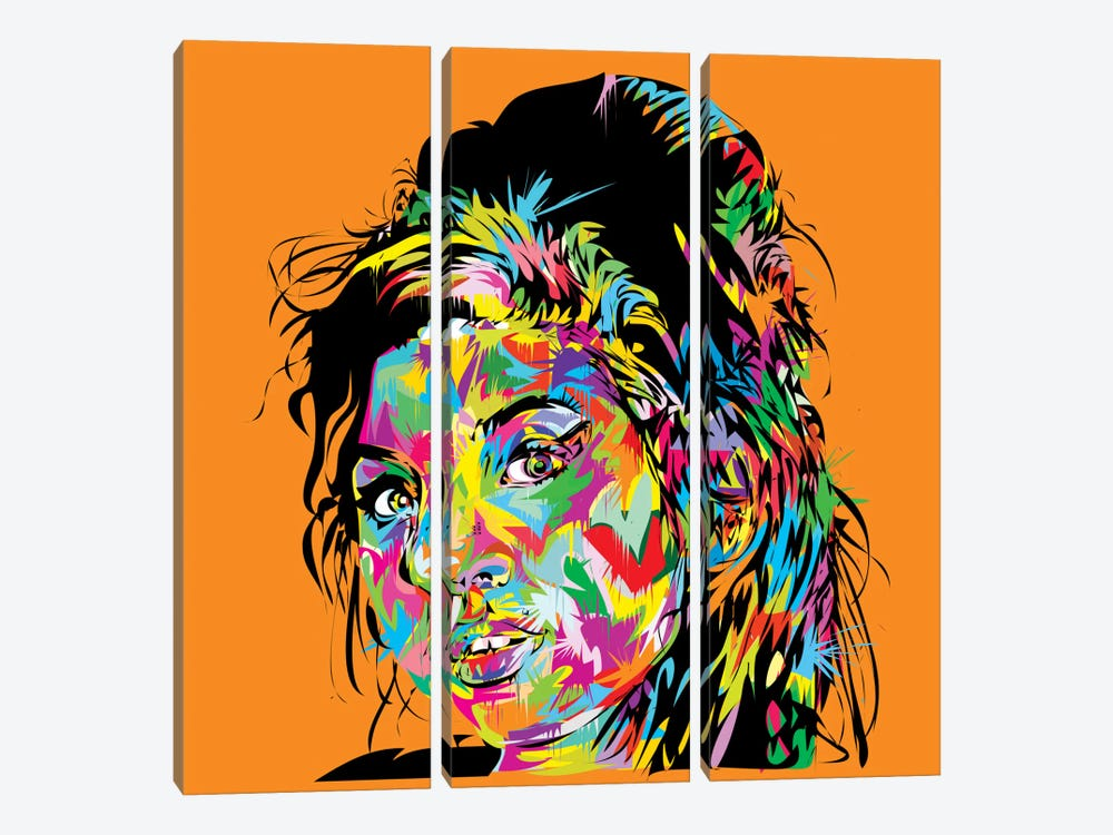 Amy Winehouse by TECHNODROME1 3-piece Art Print