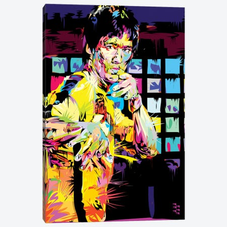 Bruce Lee I Canvas Print #TDR88} by TECHNODROME1 Canvas Art
