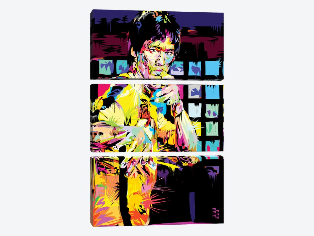 Bruce Lee I by TECHNODROME1 3-piece Canvas Artwork