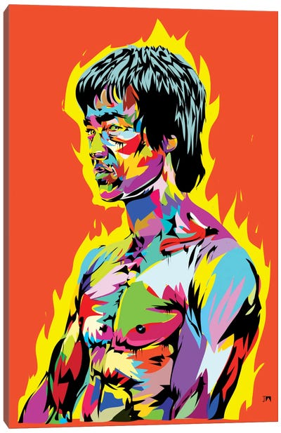 Bruce Lee II Canvas Print #TDR89