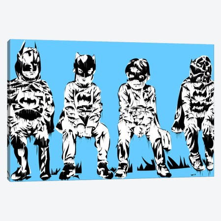 Baby Batmans Canvas Print #TDR8} by TECHNODROME1 Canvas Wall Art