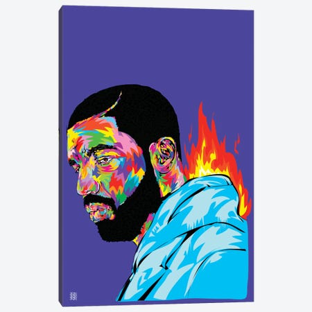 Drake Canvas Print #TDR91} by TECHNODROME1 Canvas Art Print