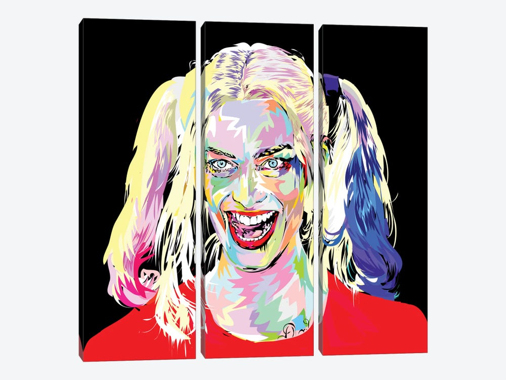 Harley Quinn by TECHNODROME1 3-piece Canvas Wall Art