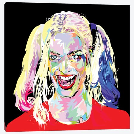 Harley Quinn Canvas Print #TDR95} by TECHNODROME1 Canvas Wall Art