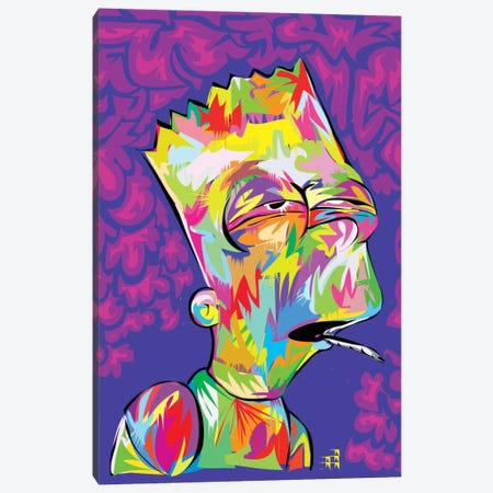 Bart's High Canvas Print #TDR9} by TECHNODROME1 Canvas Wall Art