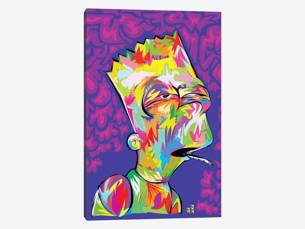 Bart's High by TECHNODROME1 1-piece Canvas Art Print