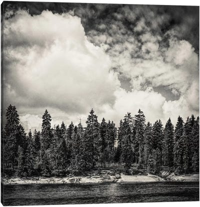 Far Away Clouds Passing By Canvas Art Print