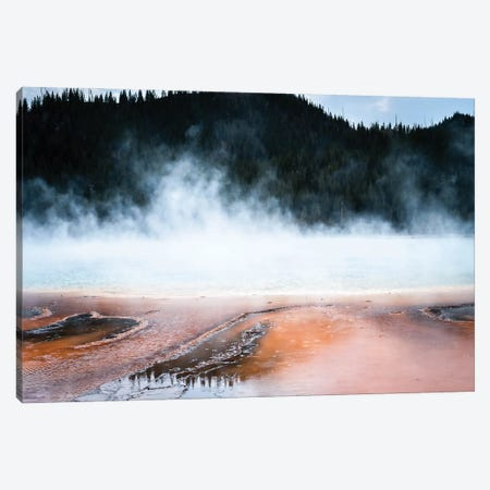 Steaming Yellowstone In Color Ii Canvas Print #TEA10} by Teal Production Art Print