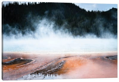 Steaming Yellowstone In Color Ii Canvas Art Print