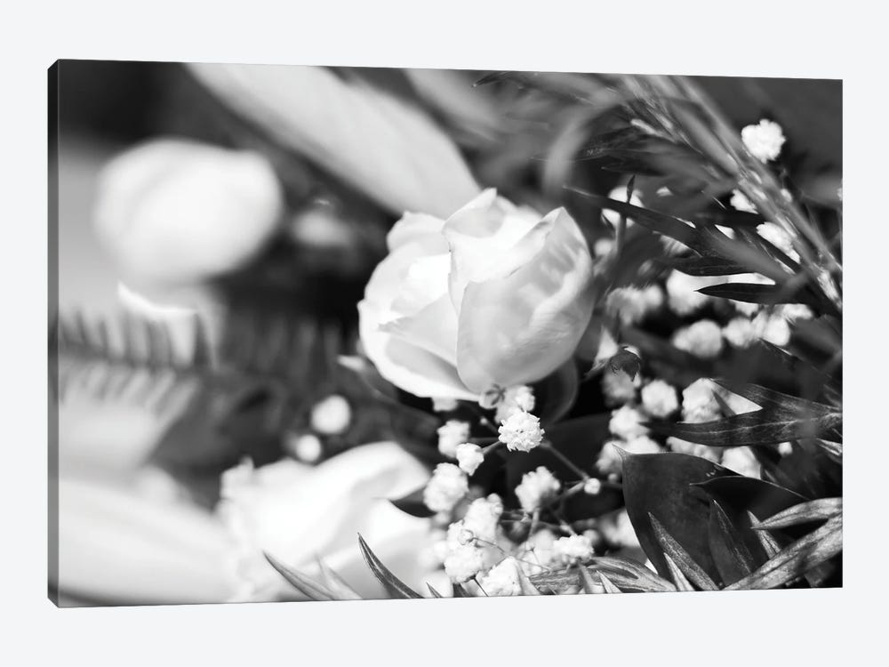 Dramatic Rose In Black And White by Teal Production 1-piece Canvas Artwork