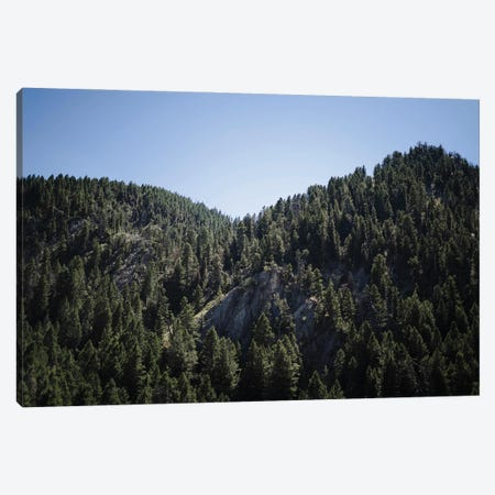 Mountains Peaks In Wyoming In Color Canvas Print #TEA15} by Teal Production Canvas Wall Art